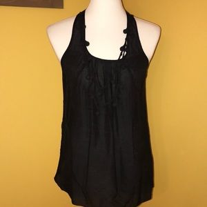 2/$15 GAP black racerback sleeveless blouse